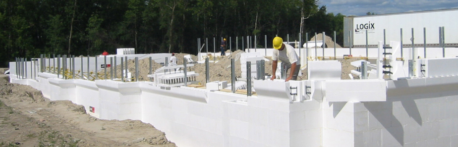 Logix icf icf blocks construction forms insulated for Foam form concrete construction