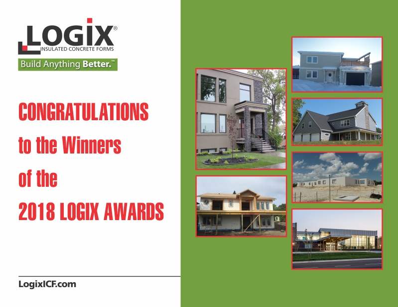 2018 Logix Awards honors six amazing ICF Homes and ICF Buildings!