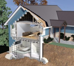 Disaster-resilient home rendering built with Logix ICF