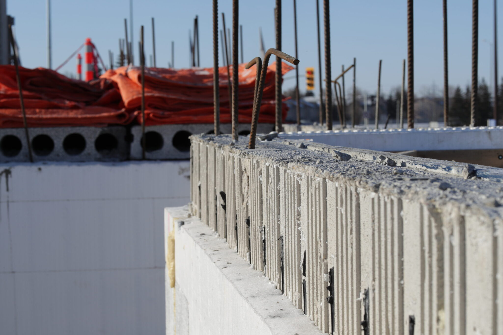 Logix Insulated Concrete Forms with Rebar