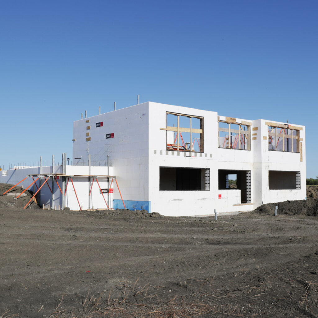 Home built with Logix Insulated Concrete Forms with Large Windows