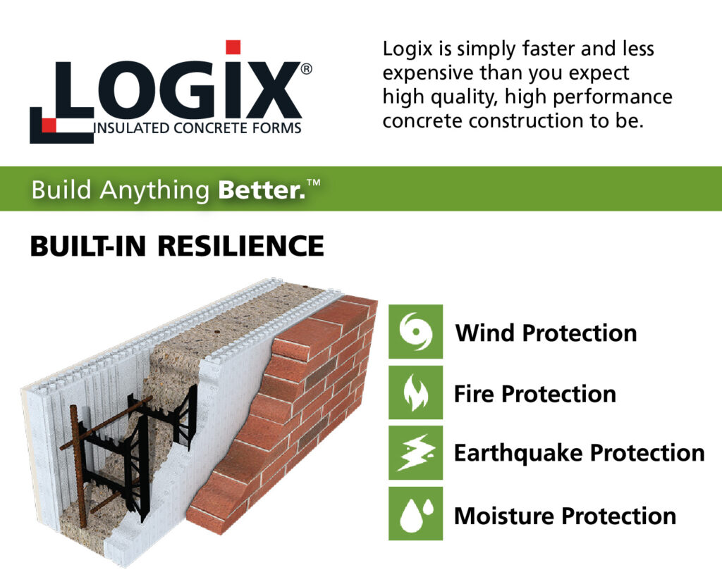 Built-In Resilience with Logix Insulated Concrete Forms