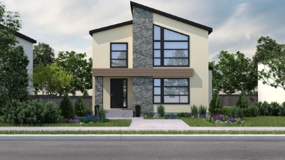 Residential home rendering. Home to be built with Logix Insulated Concrete Forms