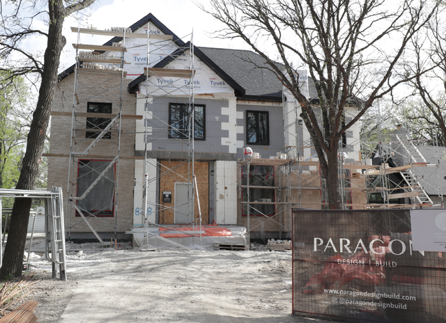 Residential home under construction being built with Logix Insulated Concrete Forms