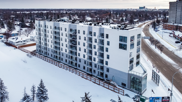 30 UC while under construction. Mid-rise Multifamily rental property built with Logix Insulated Concrete Forms
