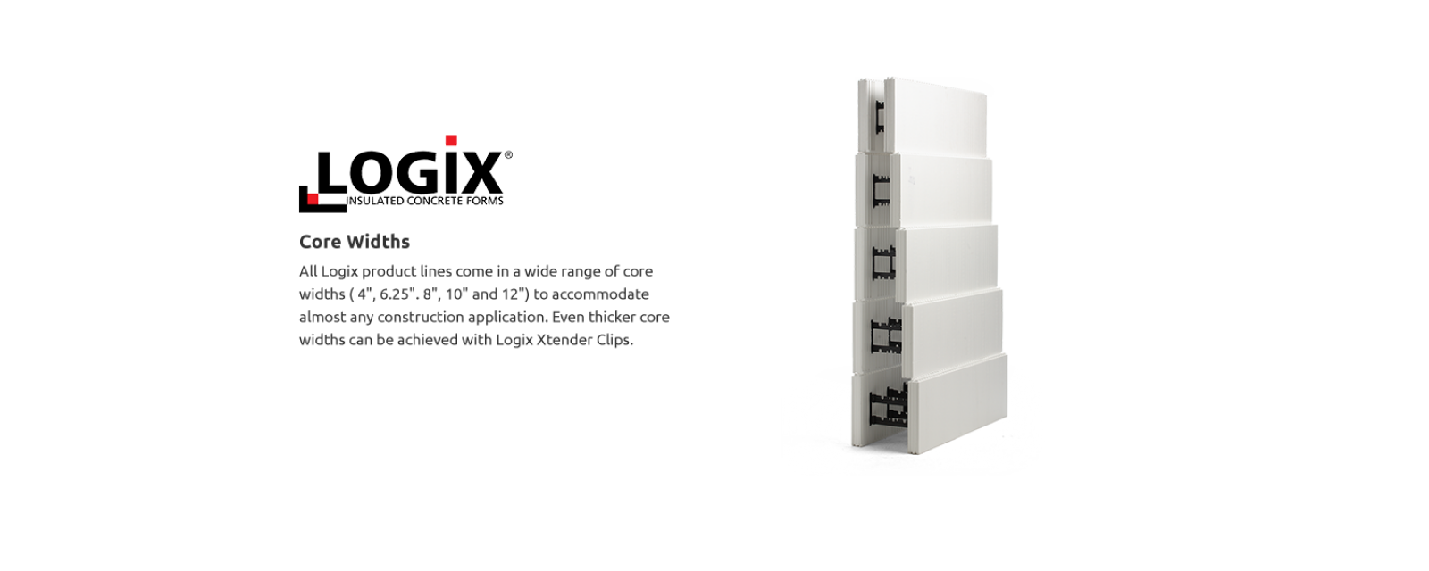 Logixicf insulated concrete forms icf blocks for Foam block foundation prices