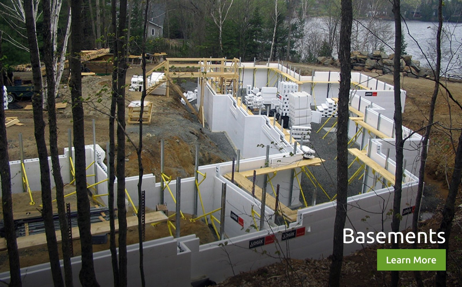 Logix icf insulated concrete forms icf construction for Icf basement cost